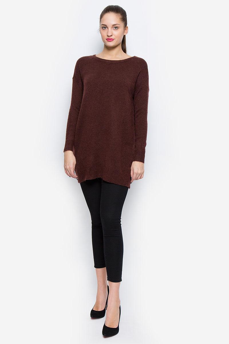 Купить Джемпер женский Vero Moda, цвет: темно-коричневый. 10159163. Размер M (44)