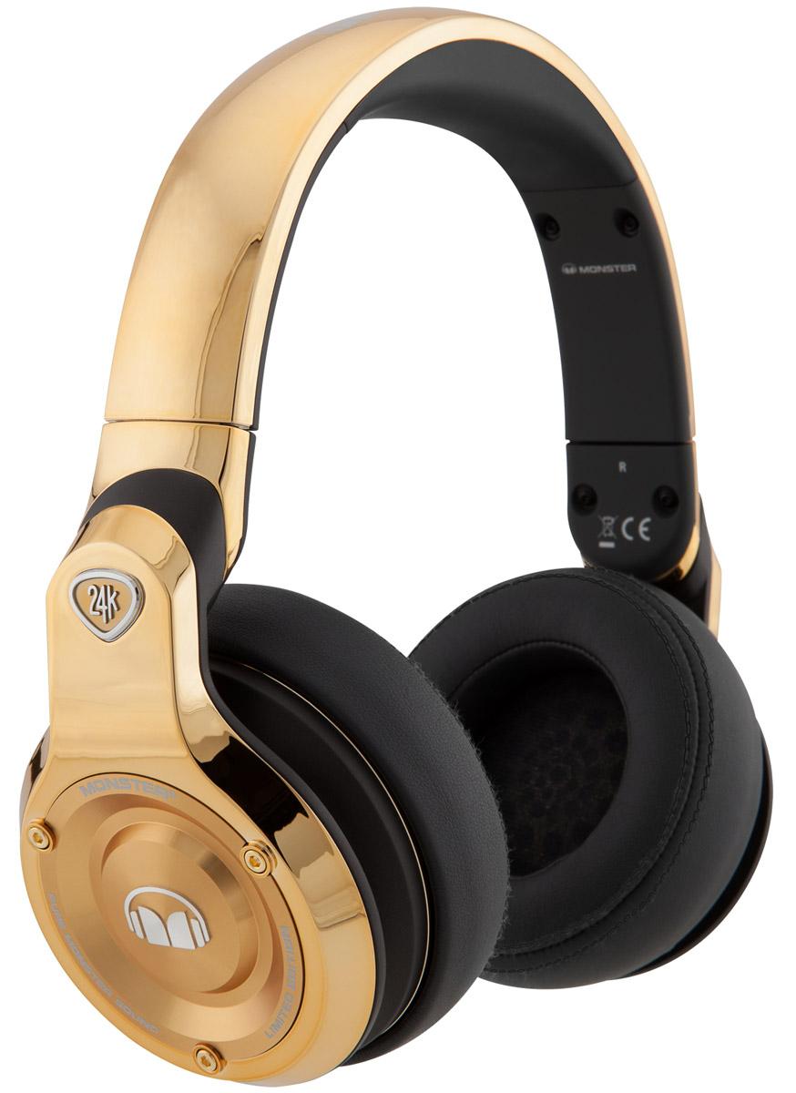 Monster 24K DJ, Gold наушники128585-00Не бойтесь показать, кто вы есть на самом деле! Будьте собой и добейтесь своего максимума c премиальными наушниками Monster 24K DJ Over-Ear Headphones, являющимися пределом совершенства современных технологий в звуке. Живите на полную громкость с ярким дизайном и превосходством звука наушников 24K. Переключайтесь между входящими вызовами и треками, управляйте музыкой с помощью универсального пульта ControlTalk, расположенного на проводе.
