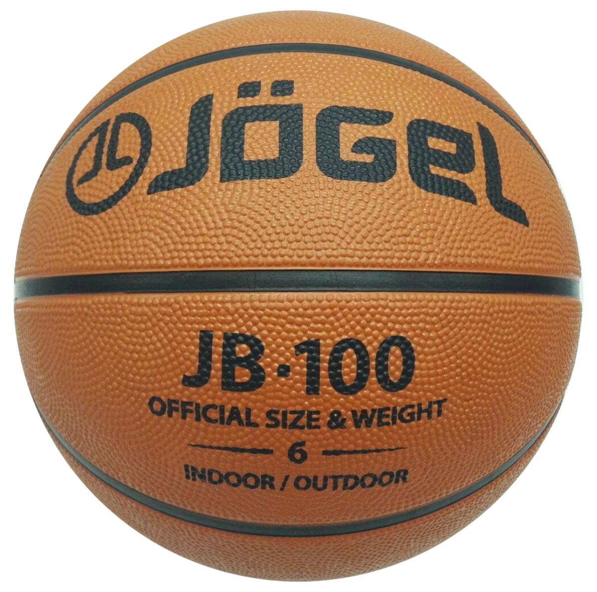 Мяч баскетбольный  Jogel , цвет: коричневый. Размер 6. JB-100 - Баскетбол