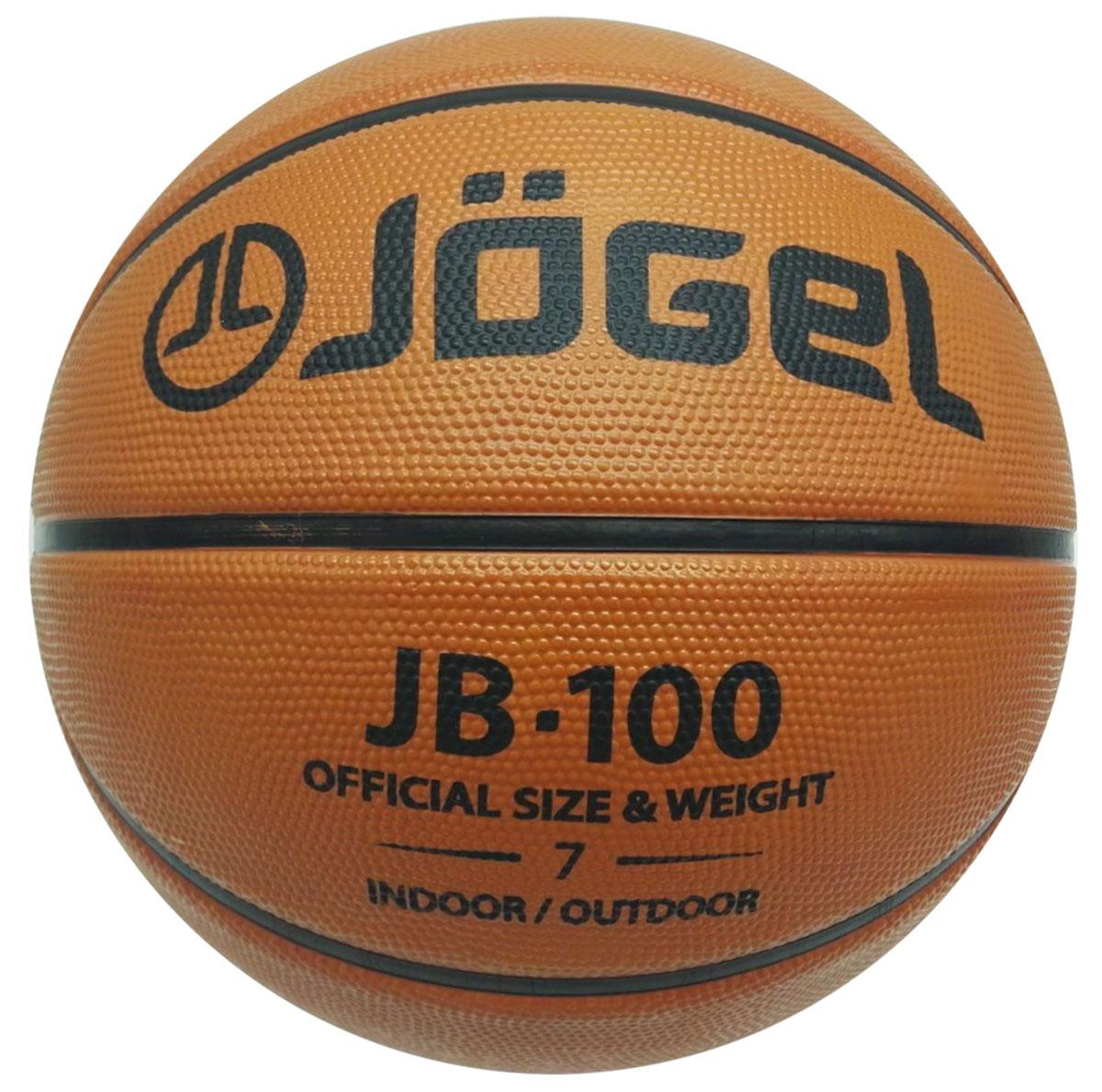 Мяч баскетбольный Jogel, цвет: коричневый. Размер 7. JB-100 мячи спортивные jogel мяч баскетбольный jogel jb 150 7