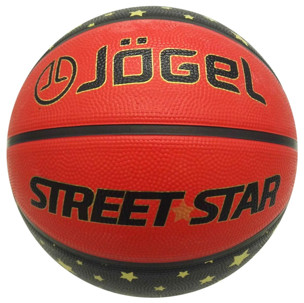 Мяч баскетбольный Jogel Street Star, цвет: оранжевый . Размер 7УТ-00009273Jogel Street Star - это резиновый баскетбольный мяч, с уникальным ламинированным цветным дизайном для уличного баскетбола (стритбол). Поверхность мяча выполнена из износостойкой резины, благодаря чему данным мячом можно играть практически на любой поверхности, как на улице, так и в зале. Благодаря технологии DeepChannel (глубокие каналы), используемой при производстве мячей Jogel, достигается лучший контроля мяча во время броска и дриблинга. Размер №7 предназначается для мужчин и юношей от 17 лет, официальный размер для соревнований мужских команд. Данный мяч рекомендован для любительской игры, тренировок любительских команд и команд среднего уровня.Официальный размер и вес FIBA.Вес: 567-650 гр.Длина окружности: 75-78 см.Рекомендованное давление: 0.5-0.6 бар.УВАЖАЕМЫЕ КЛИЕНТЫ!Обращаем ваше внимание на тот факт, что мяч поставляется в сдутом виде. Насос в комплект не входит.