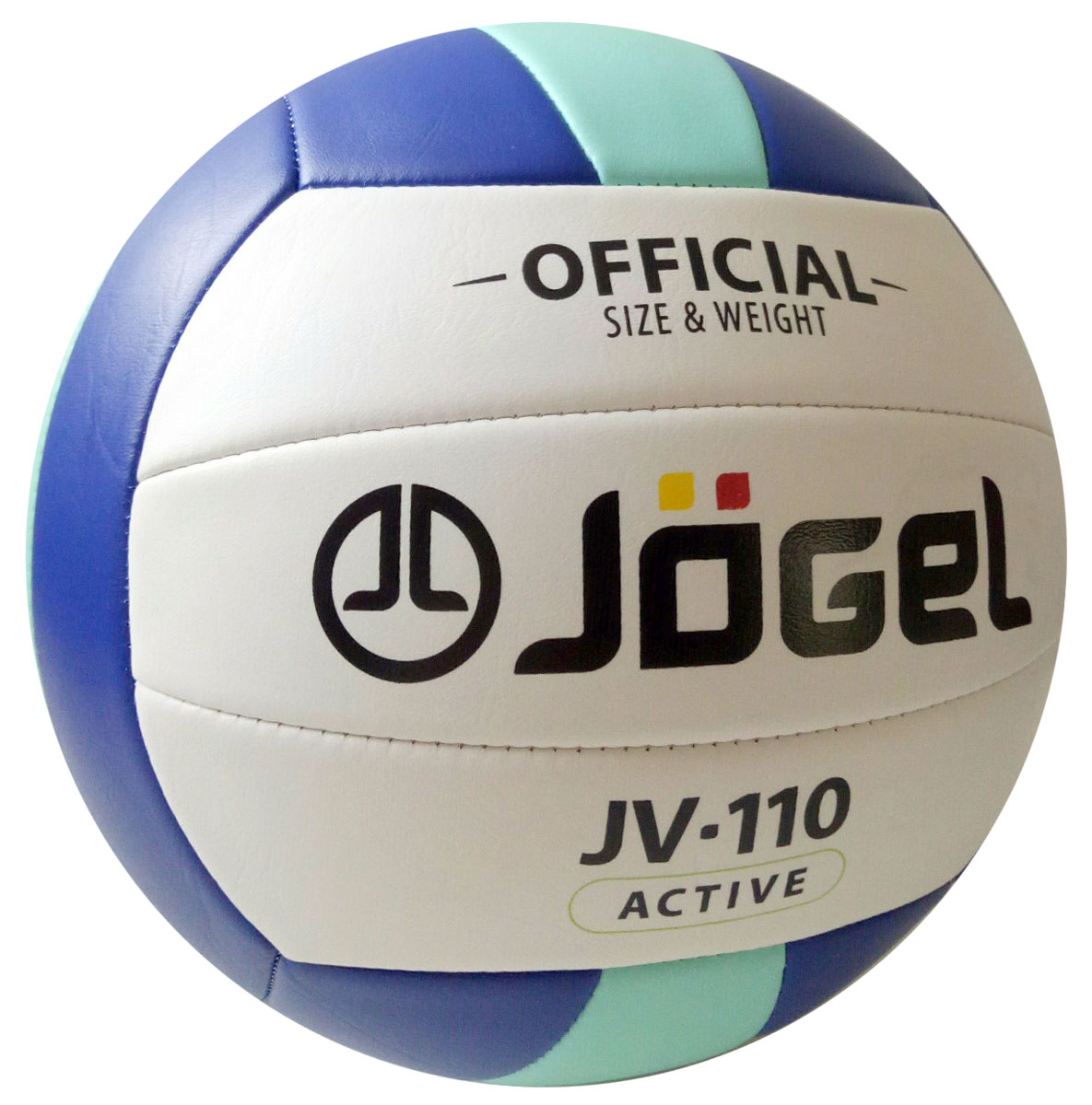 Мяч волейбольный Jogel, цвет: синий, мятный. Размер 5. JV-110УТ-00009280Название:Мяч волейбольный Jgel JV-110Уровень:Любительский мячСерия: ACTIVEОписание:Jogel JV-110 любительский мяч для классического волейбола и активного отдыха в модной сине-мятно-белой расцветке. Данная модель является лидером продаж в своей ценовой категории, благодаря недорогой стоимости, неприхотливости к игровым покрытиям и приятным тактильным ощущениям. Поверхность мяча выполнена из мягкой синтетической кожи (поливинилхлорид), что позволяет избежать синяков и ушибах на руках, даже при сильных ударах. Мяч состоит из 18-ти панелей и оснащен бутиловой камерой. Данный мяч прекрасно подходит для поставок на гос. тендеры, образовательные учреждения и спортивные секции. Официальный размер и вес FIBV.Рекомендованные покрытия: Паркет, песок, резина, гаревые поля, бетонМатериал покрышки:Синтетическая кожа (поливинилхлорид)Материал камеры:БутилТип соединения панелей:Машинная сшивкаКоличество панелей:18Размер:5Вес:260-280 гр.Длина окружности: 65-67 смРекомендованное давление: 0.29-0.32 барКоличество в коробке: 50 шт.Основной цвет:БелыйДополнительный цвет:Синий, мятныйБренд: JogelСтрана бренда:ГерманияПроизводство:КНР