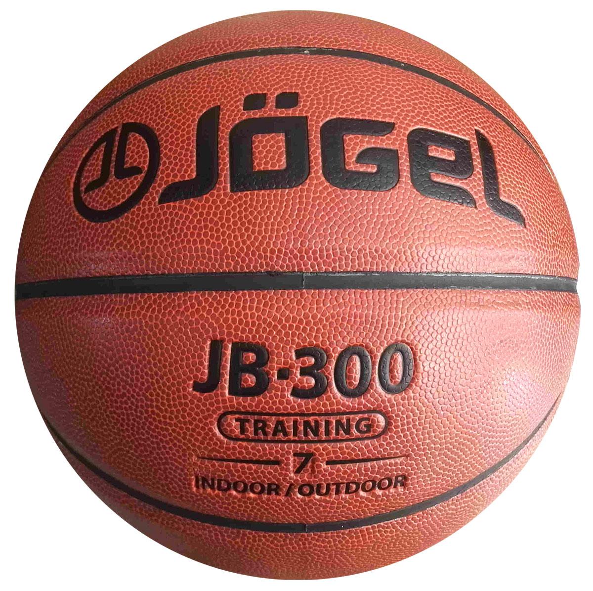 Мяч баскетбольный  Jogel , цвет: коричневый. Размер 7. JB-300 - Баскетбол