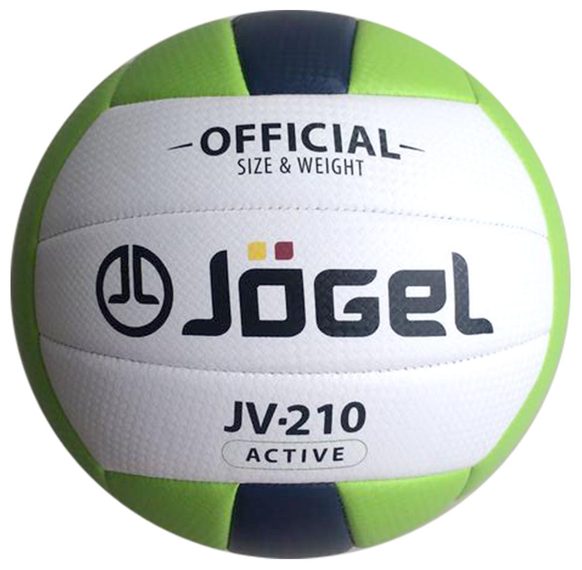 Мяч волейбольный Jogel, цвет: зеленый, темно-синий. Размер 5. JV-210УТ-00009340Любительский волейбольный мяч Jogel предназначен для классического волейбола или активного отдыха. Благодаря своей мягкой поверхности он часто используется в качестве мяча для пляжного волейбола.Покрышка мяча выполнена из текстурной мягкой синтетической кожи (поливинилхлорид) с увеличенной толщиной, за счет чего предотвращается появление синяков и ушибов на руках, даже при сильных ударах. Мяч состоит из 18 панелей, которые соединены между собой при помощи машинной сшивки и камера из бутила.Вес: 260-280 гр.Длина окружности: 65-67 см.Рекомендованное давление: 0.29-0.32 бар. УВАЖАЕМЫЕ КЛИЕНТЫ!Обращаем ваше внимание на тот факт, что мяч поставляется в сдутом виде. Насос в комплект не входит.
