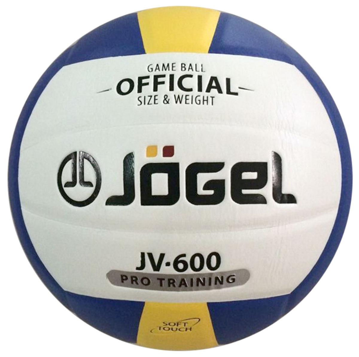 """Мяч волейбольный """"Jogel"""", цвет: синий, желтый. Размер 5. JV-600"""