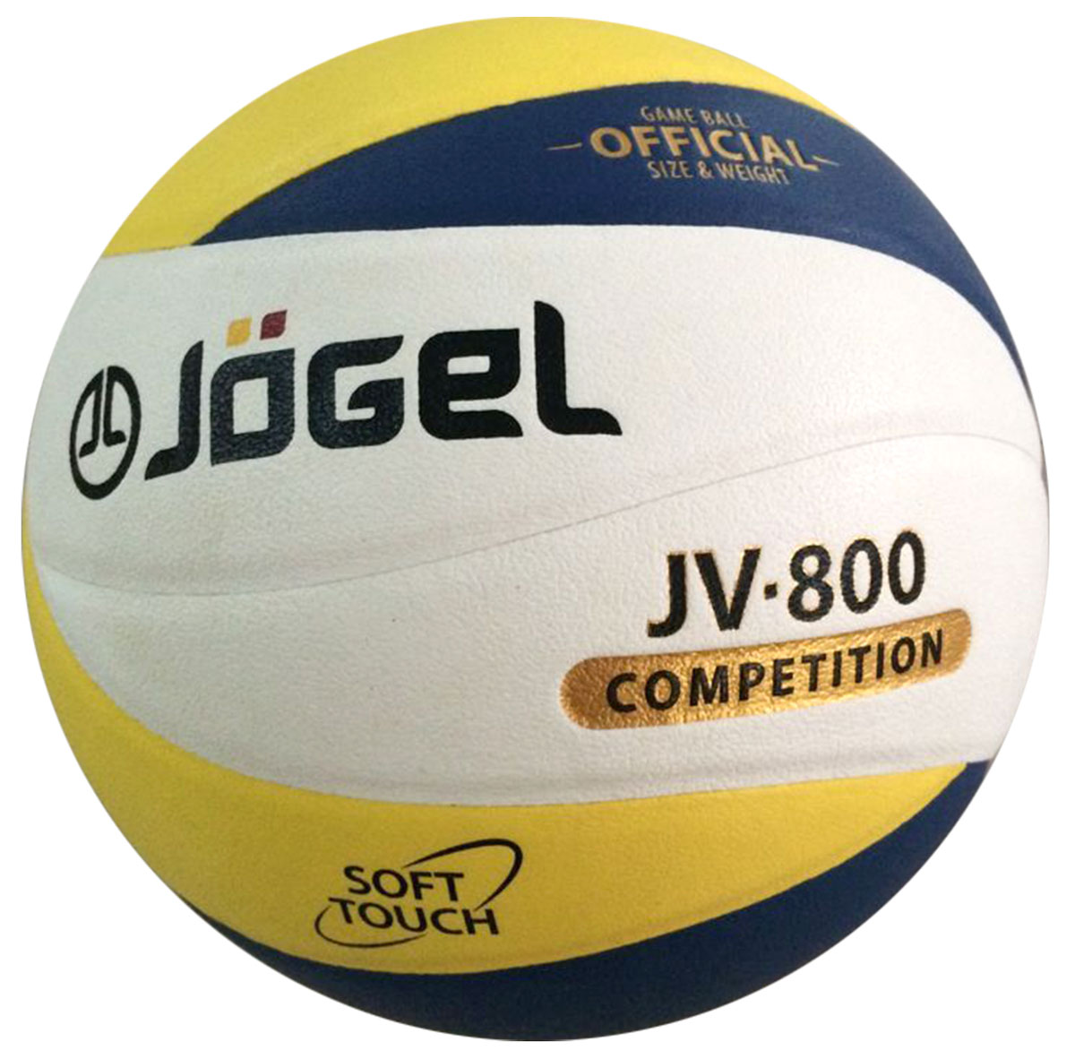 Мяч волейбольный Jogel, цвет: синий, желтый. Размер 5. JV-800120330_white/royalСоревновательный волейбольный мяч Jogel из серии COMPETITION предназначен для комфортных тренировок и игр команд любого уровня.Покрышка мяча выполнена из высокотехнологичного композитного материала на основе микрофибры, с применением технологии Soft Touch,которая напоминает натуральную кожу и обеспечивает правильный отскок. Мяч состоит из 12 панелей и бутиловой камеры, также армирован подкладочным слоем, выполненным из ткани. Мяч отлично подойдет для тренировок и соревнований команд высокого уровня. Вес: 260-280 гр. Длина окружности: 65-67 см. Рекомендованное давление: 0.29-0.32 бар.УВАЖАЕМЫЕ КЛИЕНТЫ! Обращаем ваше внимание на тот факт, что мяч поставляется в сдутом виде. Насос в комплект не входит.