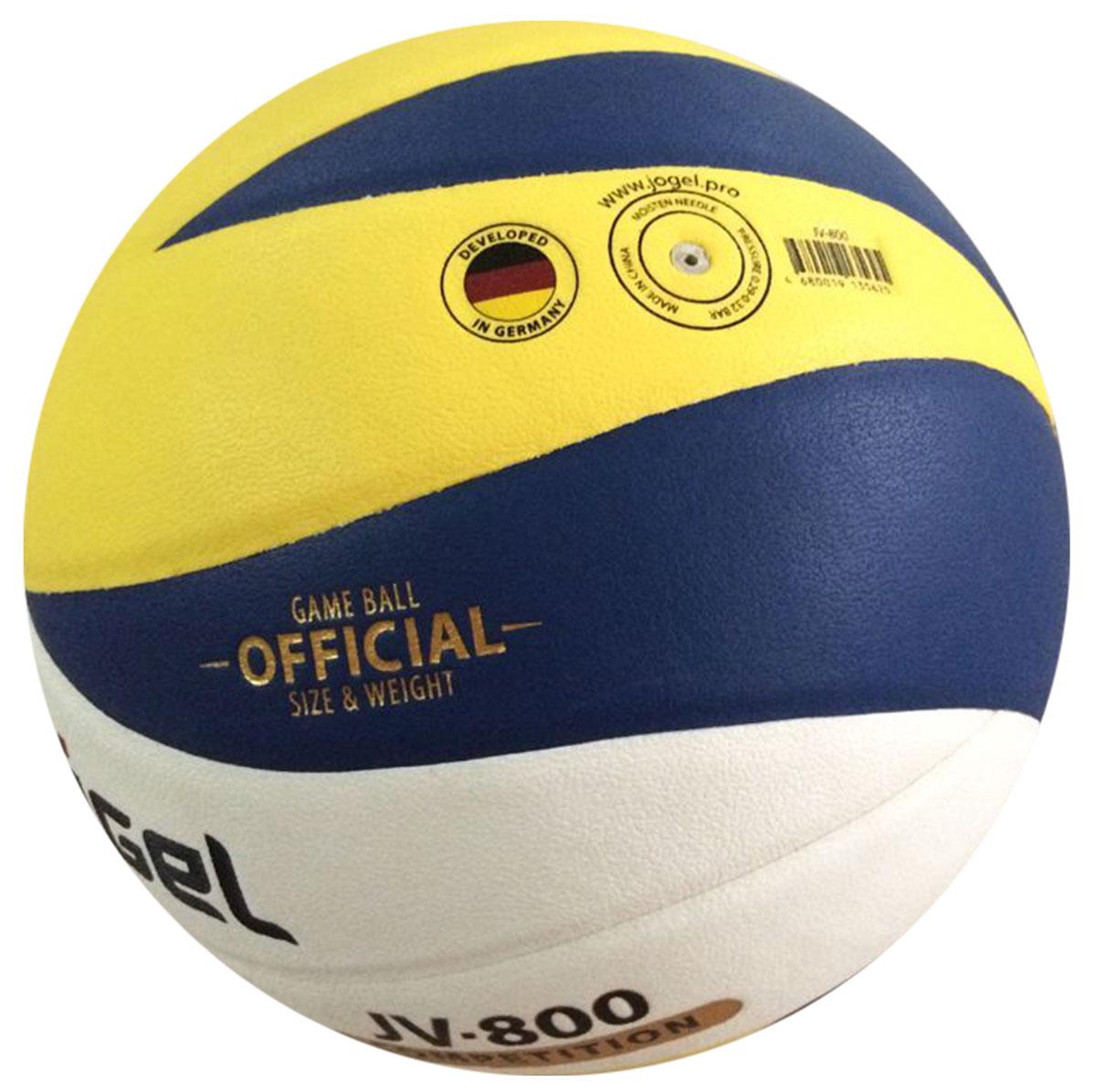 """Соревновательный волейбольный мяч """"Jogel"""" из серии COMPETITION предназначен для комфортных тренировок и игр команд любого уровня. Покрышка мяча выполнена из высокотехнологичного композитного материала на основе микрофибры, с применением технологии Soft Touch, которая напоминает натуральную кожу и обеспечивает правильный отскок.Мяч состоит из 12 панелей и бутиловой камеры, также армирован подкладочным слоем, выполненным из ткани.Мяч отлично подойдет для тренировок и соревнований команд высокого уровня.Вес: 260-280 гр.Длина окружности: 65-67 см.Рекомендованное давление: 0.29-0.32 бар. УВАЖАЕМЫЕ КЛИЕНТЫ!Обращаем ваше внимание на тот факт, что мяч поставляется в сдутом виде. Насос в комплект не входит."""