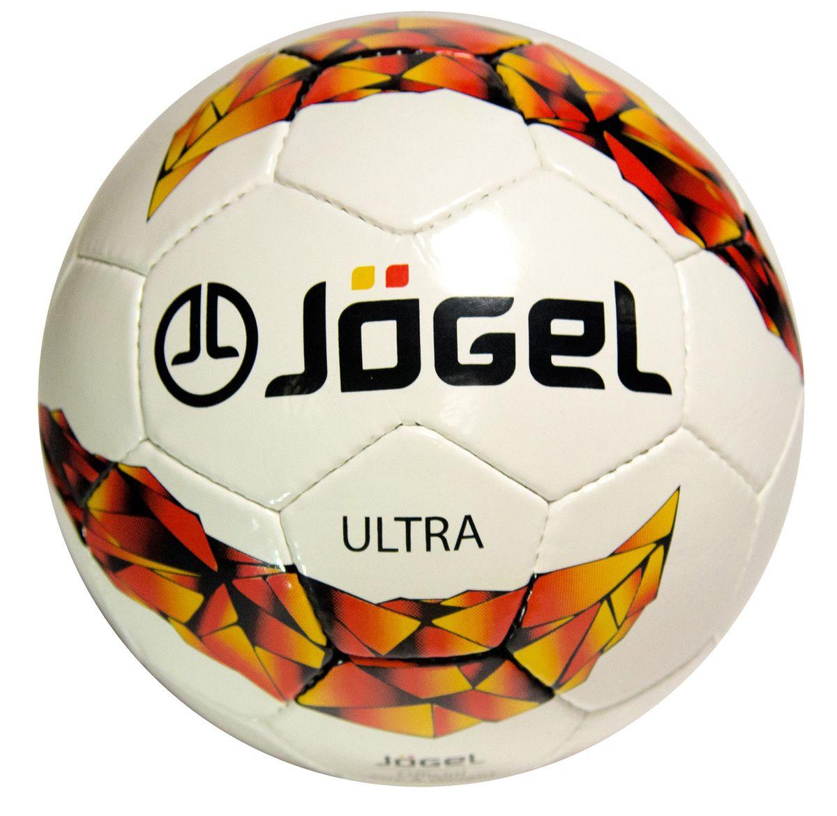 Мяч футбольный Jogel Ultra, цвет: белый, красный, оранжевый. Размер 5. JS-400УТ-00009471Популярный футбольный мяч Jogel JS-400 Ultra неприхотлив к игровым поверхностям. Мяч предназначен для любительских игр и тренировок любительских команд.Покрышка мяча изготовлена из качественной синтетической кожи (поливинилхлорид), толщина которой составляет 1.1 мм. Мяч имеет 4 подкладочных слоя на нетканой основе из смеси хлопка и полиэстера. Использование латексной камеры с бутиловым ниппелем обеспечивает долгое сохранение воздуха в камере. Мяч не рекомендован для игры при низких температурах (ниже +5°С).Вес: 410-450 гр.Длина окружности: 68-70 см.Рекомендованное давление: 0.6-0.8 бар.УВАЖАЕМЫЕ КЛИЕНТЫ!Обращаем ваше внимание на тот факт, что мяч поставляется в сдутом виде. Насос в комплект не входит.