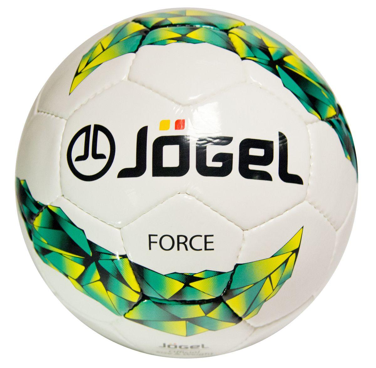 Мяч футбольный Jogel Force, цвет: белый, зеленый, желтый. Размер 4. JS-450УТ-00009472Футбольный мяч Jogel JS-450 Force прекрасная любительская модель ручной сшивки. Покрышка мяча выполнена из сочетания поливинилхлорида и полиуретана, за счет чего достигается дополнительная плотность и износостойкость. Мяч Jogel JS-450 Force предназначен для любительской игры и тренировок любительских команд.Мяч имеет 4 подкладочных слоя на нетканой основе (смесь хлопка с полиэстером) и латексную камеру с бутиловым ниппелем, который обеспечивает долгое сохранение воздуха в камере.Мяч не рекомендован для игры при низких температурах (ниже +5°С).Вес: 410-450 гр.Длина окружности: 68-70 см.Рекомендованное давление: 0.6-0.8 бар.УВАЖАЕМЫЕ КЛИЕНТЫ!Обращаем ваше внимание на тот факт, что мяч поставляется в сдутом виде. Насос в комплект не входит.