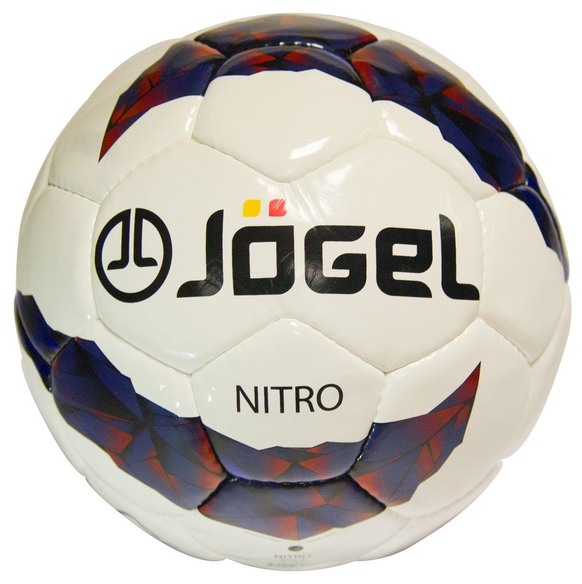 Мяч футбольный Jogel Nitro, цвет: белый, синий, бордовый. Размер 5. JS-700200170Футбольный мяч Jogel JS-700 Nitro превосходно подходит для тренировочного уровня. Он имеет прочную покрышку из синтетической кожи,сшитой вручную. Мяч имеет отличные технические характеристики, соответствующие требованиям тренировочного процесса.Предусмотрено 4 подкладочных слоя из смеси хлопка с полиэстером и латексная камера, которая хорошо держит давление.Мяч Jogel JS-700 Nitro станет отличным выбором для тренировок и проведения любительских матчей. Вес: 410-450 гр. Длина окружности: 68-70 см. Рекомендованное давление: 0.6-0.8 бар. УВАЖАЕМЫЕ КЛИЕНТЫ! Обращаем ваше внимание на тот факт, что мяч поставляется в сдутом виде. Насос в комплект не входит.