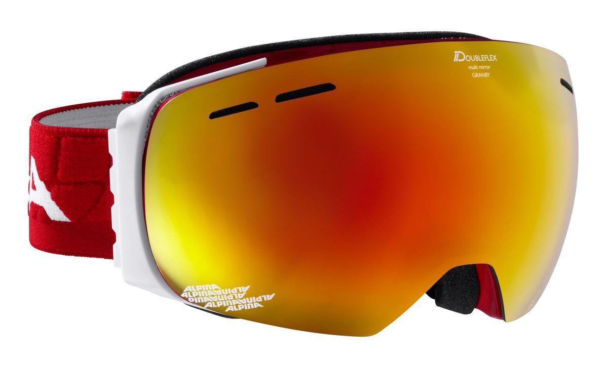 Очки горнолыжные Alpina  Granby , цвет: красный. 7213_51 - Горные лыжи
