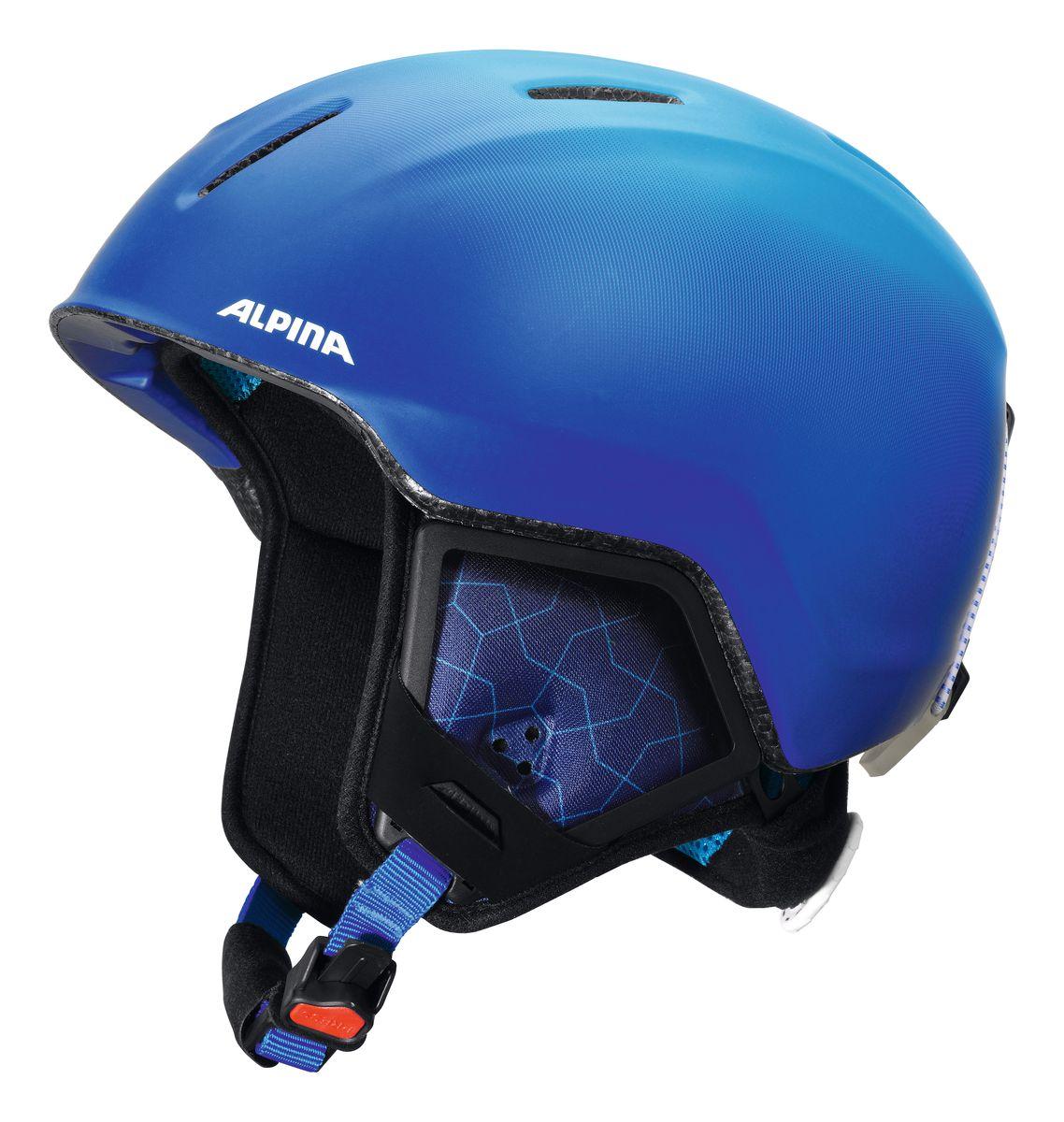 Шлем зимний Alpina Carat Xt, цвет: синий. Размер 51-55. 9080_819080_81Особенности:• Вентиляционные отверстия препятствуют перегреву и позволяют поддерживать идеальную температуру внутри шлема. Для этого инженеры Alpina используют эффект Вентури, чтобы сделать циркуляцию воздуха постоянной и максимально эффективной.• Внутренник шлема легко вынимается, стирается, сушится и вставляется обратно.• Из задней части шлема можно достать шейный утеплитель из мякого микро-флиса. Этот теплый воротник также защищает шею от ударов на высокой скорости и при сибирских морозах. В удобной конструкции отсутствуют точки давления на шею.• Прочная и лёгкая конструкция In-moldInmould - технология, при которой внутренняя оболочка из EPS (вспененного полистирола) покрыта поликарбонатом. Внешняя тонкая жесткая оболочка призвана распределить энергию от удара по всей площади шлема, защитить внутреннюю часть от проникновения острых осколков и сохранить ее форму. Внутренняя толстая мягкая оболочка демпфирует ударную энергию, предохраняя головной мозг от ударов. Такой шлем наиболее легкий и подходит большинству горнолыжников, не бросающих вызов судьбе в поисках адреналина. . Тонкая и прочная поликарбонатная оболочка под воздействием высокой температуры и давления буквально сплавляется с гранулами EPSВспенивающийся полистирол (ПСВ) являлся изоляционным полимерным материалом. Каждая гранула состоит из равномерно распределенных микроскопических плотных клеток заполненных воздухом. Пенополистирол на 98% состоит из воздуха и только на 2% из полистирола. Такая структура и придает замечательные свойства материалу, получившему заслуженное признание во всем мире. Прочность пенополистирола позволяет применять его в качестве конструктивного элемента, способного нести значительные нагрузки в течение длительного времени. Пенополистирол не гигроскопичен, он обладает хорошими механическими и изоляционными свойствами и значительной конструкционной гибкостью., которые гасят ударную нагрузку.• Внутренная оболочка 