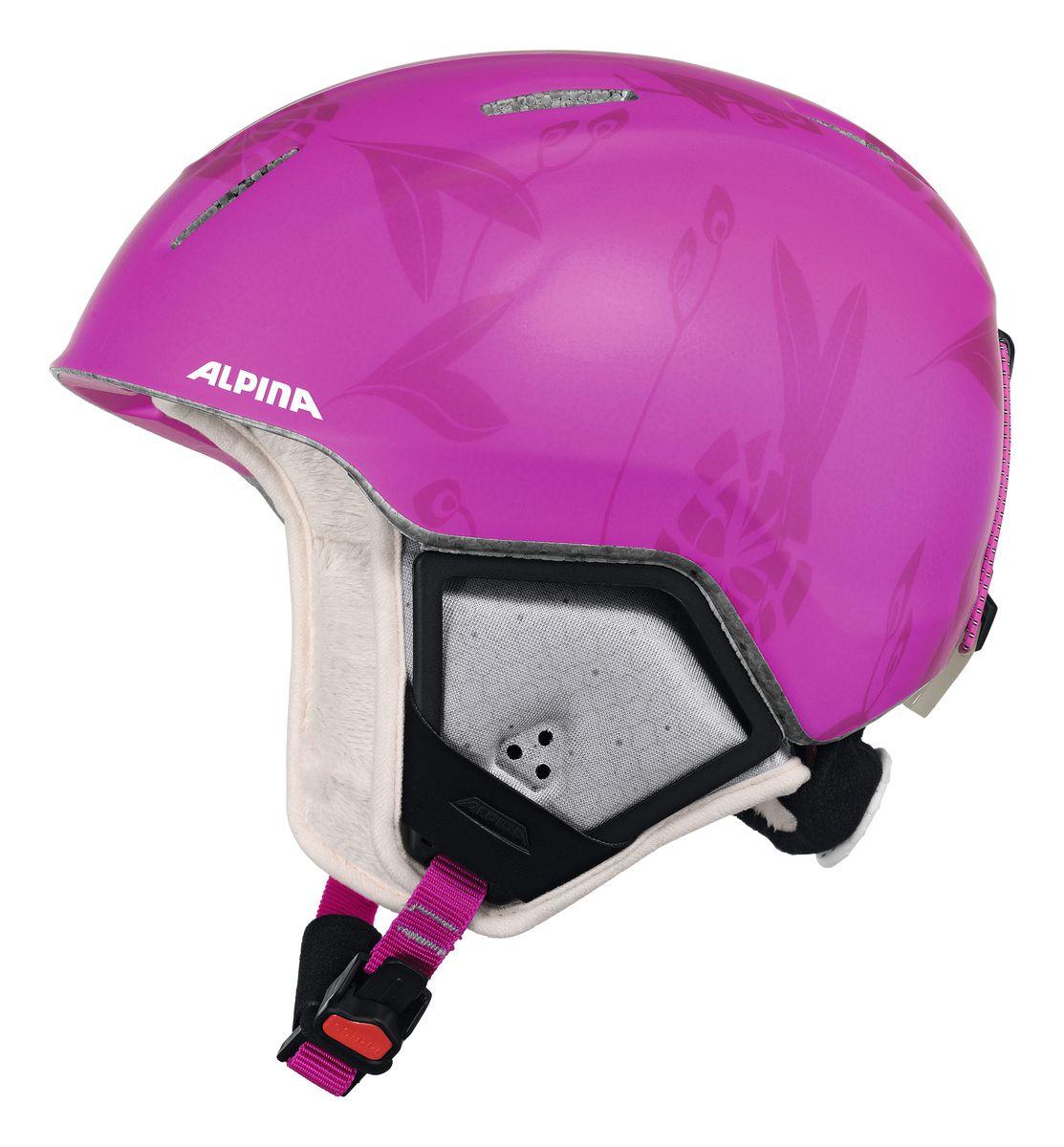 Шлем зимний Alpina Carat Xt, цвет: розовый. Размер 54-589080_53Особенности зимнего шлема Alpina Carat Xt: Вентиляционные отверстия препятствуют перегреву и позволяют поддерживать идеальную температуру внутри шлема. Для этого инженеры Alpina используют эффект Вентури, чтобы сделать циркуляцию воздуха постоянной и максимально эффективной.Внутренник шлема легко вынимается, стирается, сушится и вставляется обратно. Из задней части шлема можно достать шейный утеплитель из мякого микро-флиса. Этот теплый воротник также защищает шею от ударов на высокой скорости и при сибирских морозах. В удобной конструкции отсутствуют точки давления на шею. Прочная и лёгкая конструкция In-mold Inmould - технология, при которой внутренняя оболочка из EPS (вспененного полистирола) покрыта поликарбонатом. Внешняя тонкая жесткая оболочка призвана распределить энергию от удара по всей площади шлема, защитить внутреннюю часть от проникновения острых осколков и сохранить ее форму. Внутренняя толстая мягкая оболочка демпфирует ударную энергию, предохраняя головной мозг от ударов. Такой шлем наиболее легкий и подходит большинству горнолыжников, не бросающих вызов судьбе в поисках адреналина. Тонкая и прочная поликарбонатная оболочка под воздействием высокой температуры и давления буквально сплавляется с гранулами EPS. Вспенивающийся полистирол (ПСВ) являлся изоляционным полимерным материалом. Каждая гранула состоит из равномерно распределенных микроскопических плотных клеток заполненных воздухом. Пенополистирол на 98% состоит из воздуха и только на 2% из полистирола. Такая структура и придает замечательные свойства материалу, получившему заслуженное признание во всем мире. Прочность пенополистирола позволяет применять его в качестве конструктивного элемента, способного нести значительные нагрузки в течение длительного времени. Пенополистирол не гигроскопичен, он обладает хорошими механическими и изоляционными свойствами и значительной конструкционной гибкостью, которые гасят ударную нагрузку.Внут