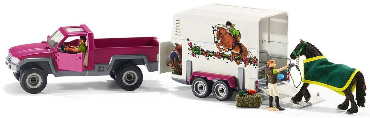 Schleich Игровой набор Пикап с прицепом для лошади
