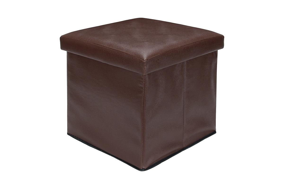 Пуф El Casa, складной, с ящиком для хранения, цвет: коричневый, 35 х 35 х 35 см171437Складной пуф El Casa понравится всем ценителям оригинальных вещей. Изделие выполнено из МДФ и обтянуто экокожей.Благодаря удобной конструкции складывается и раскладывается одним движением. В сложенном виде пуф занимает минимум места, его легко хранить и перевозить. Внутри пуфа имеется место для хранения бытовых предметов, аксессуаров для обуви и многого другого. Стильный оригинальный пуф прекрасно впишется в интерьер прихожей, гостиной или спальни.