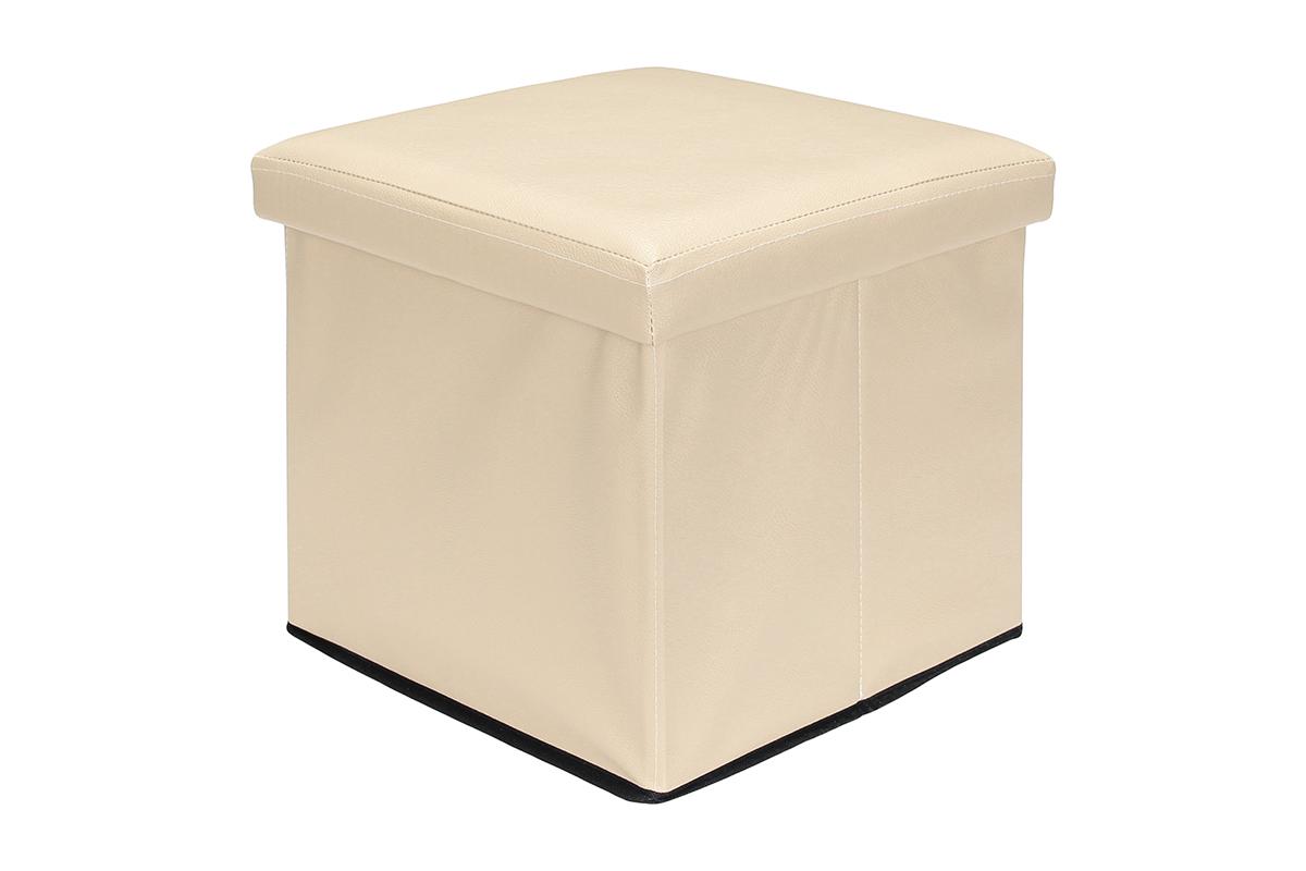 Пуф El Casa, складной, с ящиком для хранения, цвет: бежевый, 35 х 35 х 35 см пуф складной с ящиком для хранения цвет капучино el casa