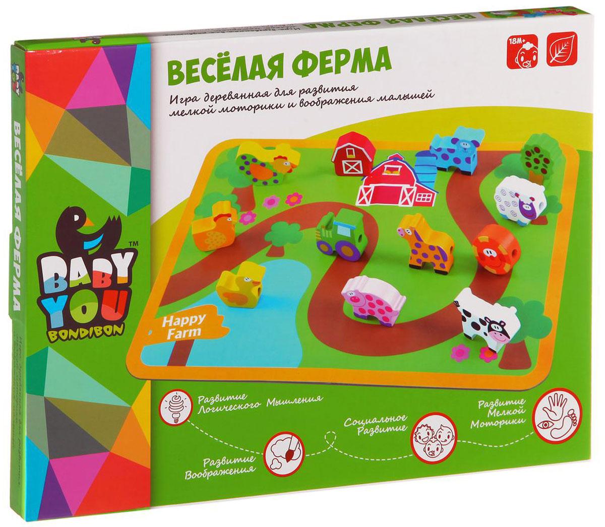 Bondibon Обучающая игра Веселая ферма barneybuddy barneybuddy игрушки для ванны стикеры веселая ферма