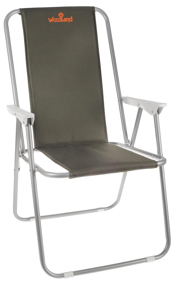Кресло складное Woodland Relax, 59 см х 52 см х 86 см0036498Складное кресло Woodland Relax предназначено для создания комфортных условий в туристических походах, охоте, рыбалке и кемпинге.Особенности:Компактная складная конструкция.Прочный стальной каркас диаметром 18 мм.Ткань Oxford имеет водоотталкивающее покрытие.Высота сиденья: 38 см.Высота спинки: 86 см.