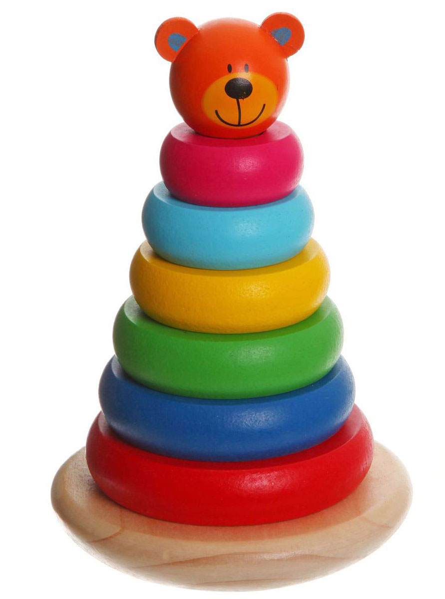Bondibon Пирамидка Медвежонок развивающие игрушки spiegelburg пирамидка baby gluck