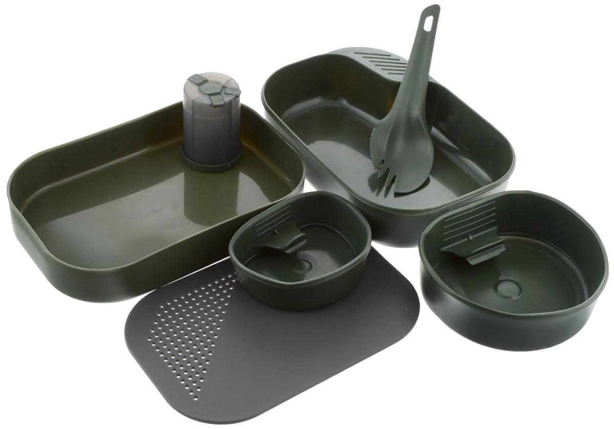Набор походной посуды Wildo Camp-a-Box Complete, портативный, цвет: темно-зеленый, 7 предметов нож перочинный victorinox victorinox hunter 111мм