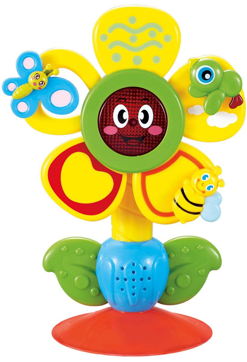 Happy Baby Музыкальная игрушка Fun Flower на присоске игрушка fun