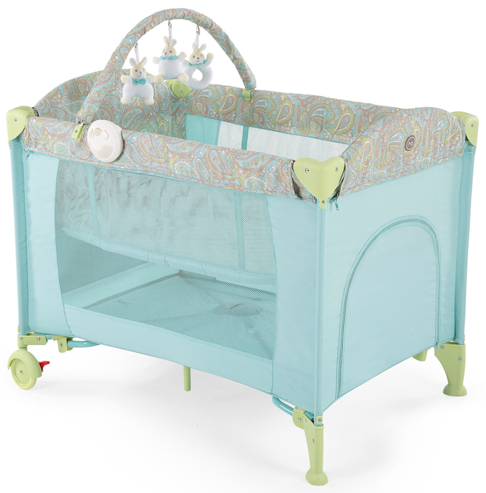 Happy Baby Кровать-манеж Lagoon V2 цвет синий манеж happy baby happy baby манеж alex violet