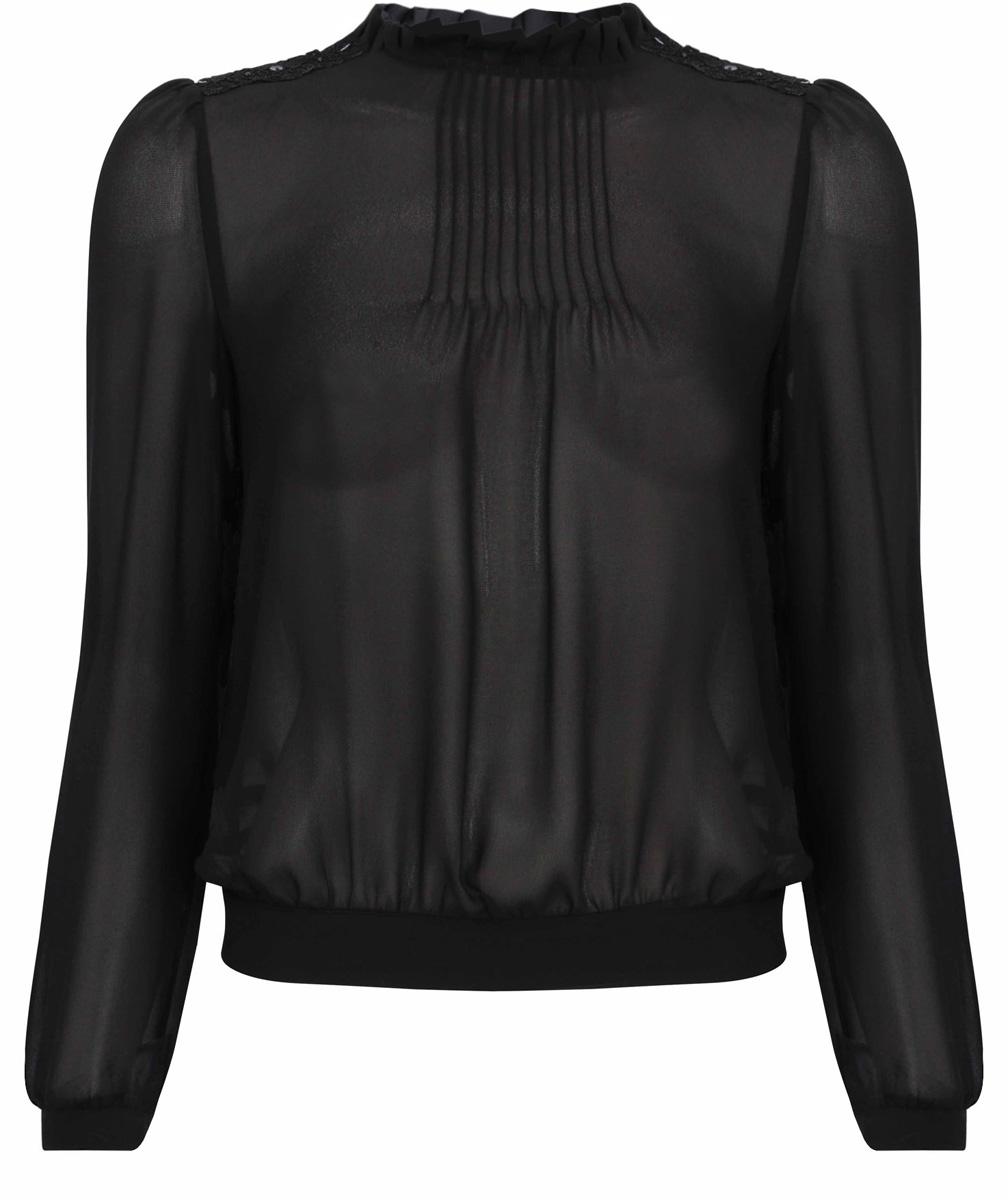 Блузка женская oodji Collection, цвет: черный. 21411101/17358/2900N. Размер 40 (46-170) блуза oodji oodji oo001ewnwa96