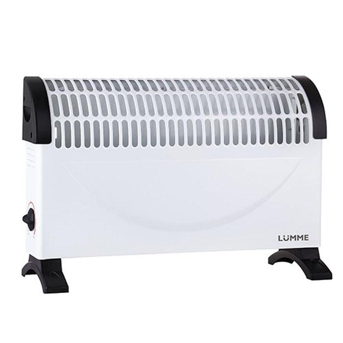 Lumme LU-604, White Black конвекционный обогревательLU-604Lumme LU-604 - электрический конвекционный обогреватель (конвектор) с регулируемым термостатом подходит для обогрева любых бытовых помещений.Прибор полностью безопасен в использовании, так как оснащен системой защиты от перегрева и во время своей работы не сжигает кислород в воздухе.Конвектор не занимает много места и при этом позволяет легко установить оптимальный микроклимат в любом помещении.