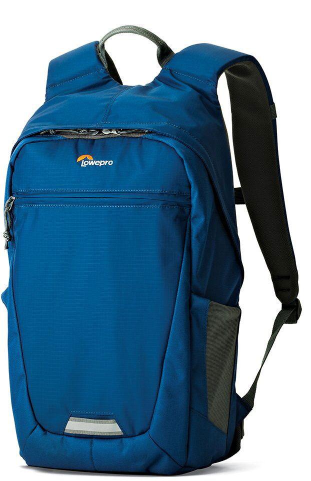 Lowepro Photo Hatchback BP 150 AW II, Blue Grey рюкзак для фотоаппаратаLP36956-PRUМногофункциональный спортивный рюкзак PhotoHatchback BP 150 AW II ориентирован на ежедневные поездки и кратковременные путешествия, вмещает фототехнику и личные вещи.Рюкзак имеет со стороны спинки доступ к фото отделению, которое выполнено в виде съемного кофра и может быть извлечено при необходимости. В этом случае рюкзак можно использовать как туристический под личные вещи. Передвижные перегородки в фотоотделении позволят организовать место под нужный комплект оборудования. Наличие кармана, выполненного с использованиемсистемы CradleFit, обеспечит безопасностьпланшета, благодаря тому, что карман планшета размещен на некотором расстоянии от дна рюкзака и защищает от ударов. Имеются двавнешних глубоких эластичных боковых кармана из сетчатого материала для бутылки с водой или аксессуаров первой необходимости.Рюкзак имеет обновленный дизайн спинки, металлические молнии и светоотражающую полосу для безопасности,к ней также можно закрепить дополнительные аксессуары.