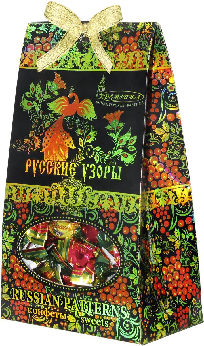 Кремлина Русские узоры вишня в шоколадной глазури, 230 г конфитрейд насекомые фруктовое драже с игрушкой 5 г