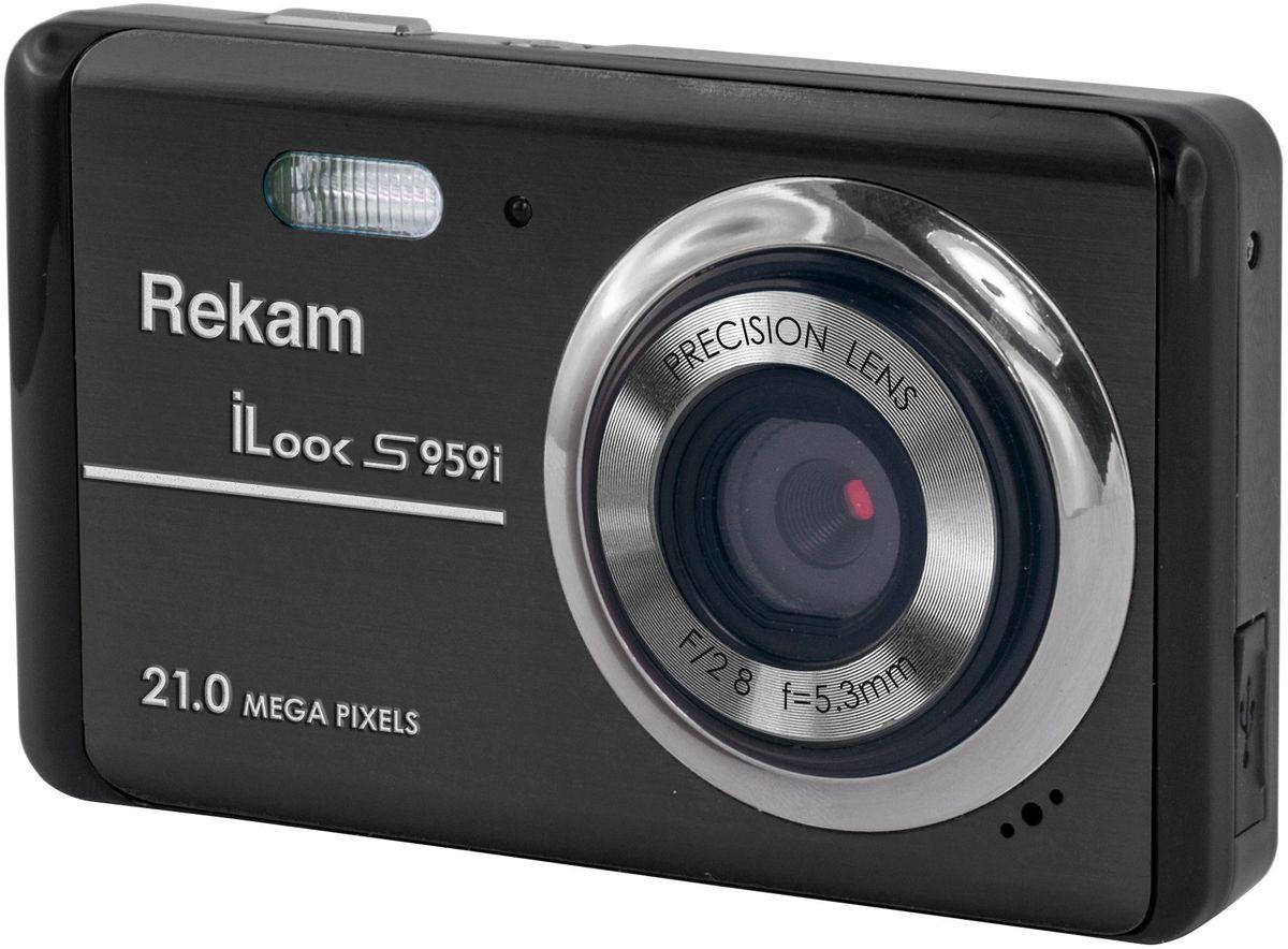 Rekam iLook S959i, Black цифровая фотокамера1108005131Rekam iLook S959i - легкая и компактная камера, с плавными формами корпуса, которая легко умещается в карман или небольшую сумку.Благодаря разрешению 21 мегапикселей и 4-х кратному цифровому увеличению вы сможете в любой момент получить яркие и четкие фотографии.Автоматический режим позволяет делать отличные фотографии при любых условиях съёмки. А благодаря специальным настройкам для солнечной, пасмурной погоды, флюоресцентной съемке, вольфрам, вы сможете почувствовать себя настоящим мастером фотосъёмки.Кроме фотосъёмки, на камеру можно снимать видеоролики со звуком в разрешении HD. Данная модель поддерживает карты памяти до 32 ГБ, что даёт возможность не заботится об экономии места.
