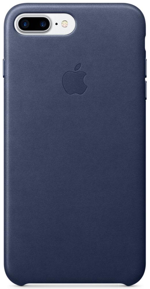 Apple Leather Case чехол для iPhone 7 Plus/8 Plus, Midnight BlueMMYG2ZM/AЧехлы, созданные Apple, точно повторяют контуры iPhone, не делая его громоздким. Apple Leather Case изготовлен из мягкой кожи европейского производства, которая со временем покрывается благородной патиной. Мягкая внутренняя поверхность, выполненная из микроволокна, защищает корпус вашего iPhone. А кнопки из обработанного алюминия идеально подходят по цвету к чехлу.