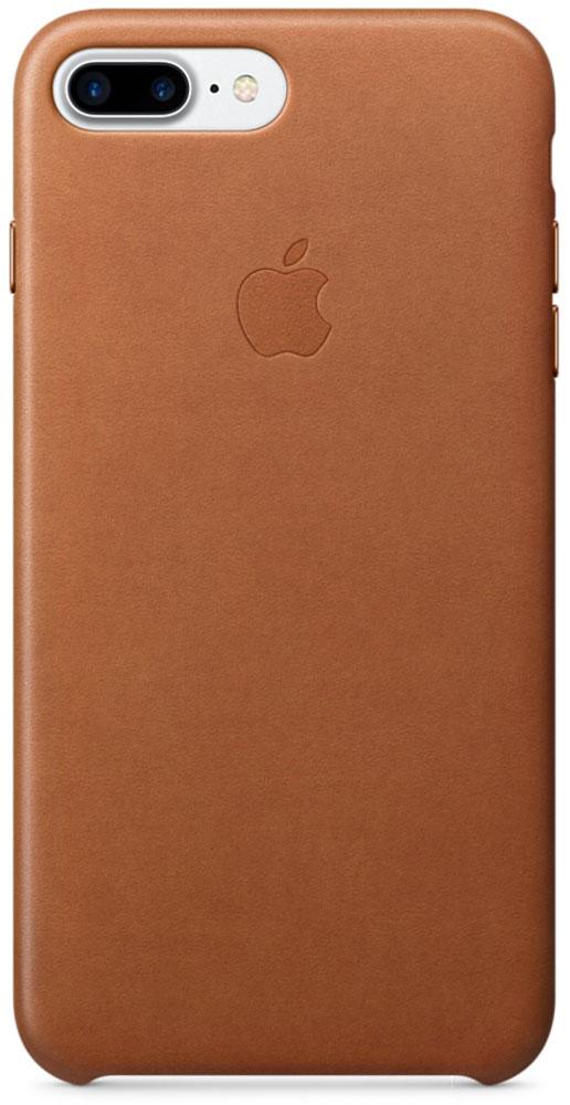 Apple Leather Case чехол для iPhone 7 Plus/8 Plus, Saddle BrownMMYF2ZM/AЧехлы, созданные Apple, точно повторяют контуры iPhone, не делая его громоздким. Apple Leather Case изготовлен из мягкой кожи европейского производства, которая со временем покрывается благородной патиной. Мягкая внутренняя поверхность, выполненная из микроволокна, защищает корпус вашего iPhone. А кнопки из обработанного алюминия идеально подходят по цвету к чехлу.