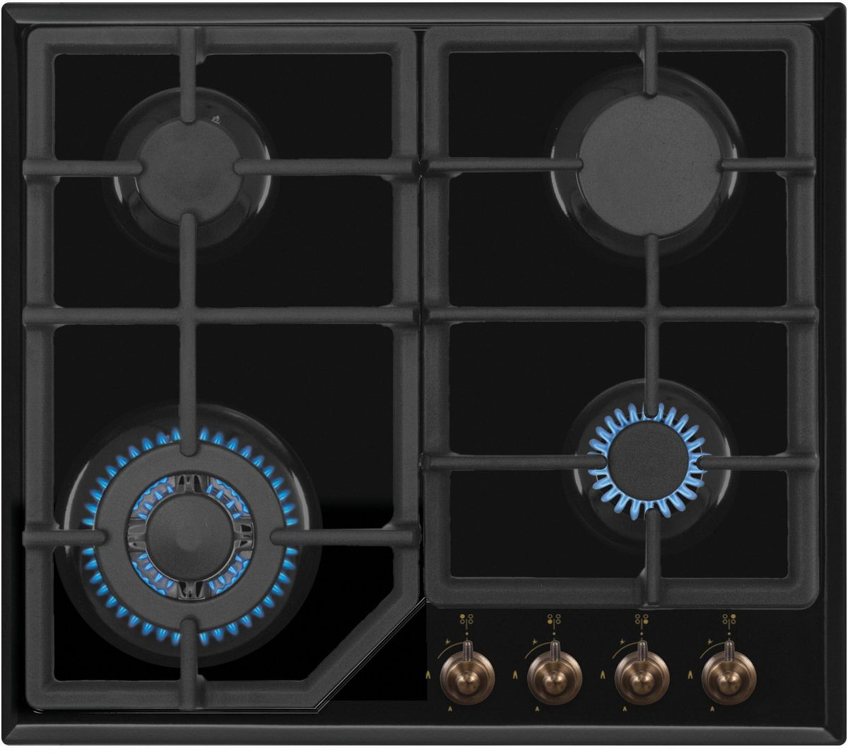 Simfer H60M41L512 панель варочная газоваяH60M41L512Газовая варочная панель Simfer H60M41L512 с чистым пламенем доведет вашу сковороду до нужной температуры без всяких задержек. Включите её и всё днище сковороды будет моментально нагрето.Благодаря идеальному расположению панели управления и индикатора уровня мощности прямо спереди этой варочной панели, любой повар, будь он левша или правша, сможет пользоваться ими с одинаковой лёгкостью.Газовая варочная поверхность Simfer H60M41L512 упрощает приготовление и делает его безопаснее благодаря особой форме подставок, обеспечивающих абсолютную устойчивость посуды.Нет способа быстрее и удобнее для того, чтобы разжечь конфорку, чем автоподжиг варочной панели. Просто поверните ручку, чтобы открыть и зажечь газ одним плавным движением.