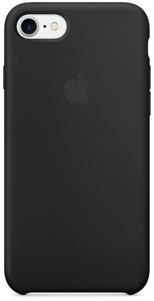 Apple Silicone Case чехол для iPhone 7/8, BlackMMW82ZM/AApple Silicone Case плотно прилегает к кнопкам громкости и режима сна, точно повторяет контуры телефона, но при этом не делает его громоздким. Мягкая подкладка из микроволокна защищает корпус iPhone. А его внешняя силиконовая поверхность очень приятна на ощупь.