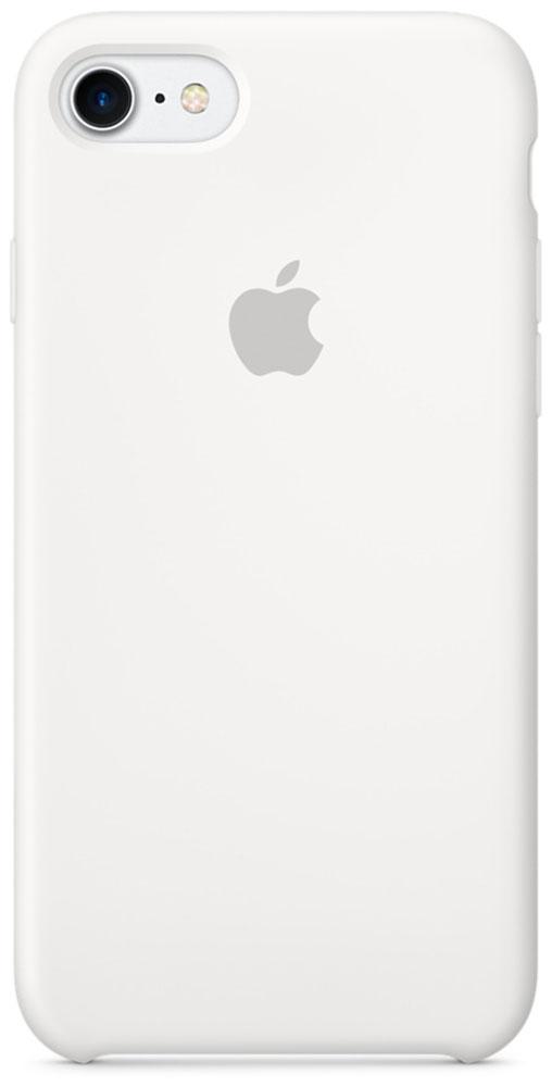 Apple Silicone Case чехол для iPhone 7/8, WhiteMMWF2ZM/AApple Silicone Case плотно прилегает к кнопкам громкости и режима сна, точно повторяет контуры телефона, но при этом не делает его громоздким. Мягкая подкладка из микроволокна защищает корпус iPhone. А его внешняя силиконовая поверхность очень приятна на ощупь.