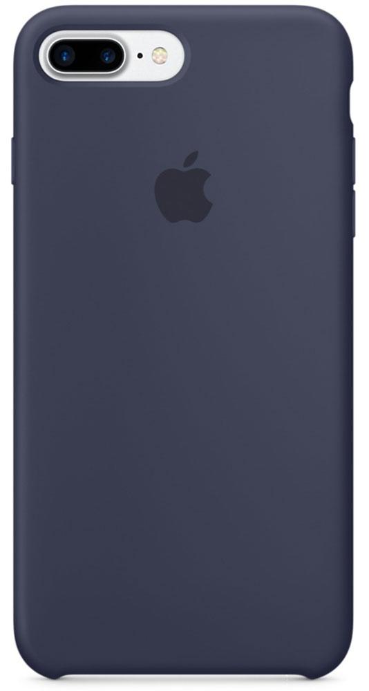 Apple Silicone Case чехол для iPhone 7 Plus/8 Plus, Midnight BlueMMQU2ZM/AApple Silicone Case плотно прилегает к кнопкам громкости и режима сна, точно повторяет контуры телефона, но при этом не делает его громоздким. Мягкая подкладка из микроволокна защищает корпус iPhone. А его внешняя силиконовая поверхность очень приятна на ощупь.