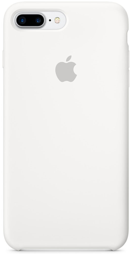 Apple Silicone Case чехол для iPhone 7 Plus, WhiteMMQT2ZM/AApple Silicone Case плотно прилегает к кнопкам громкости и режима сна, точно повторяет контуры телефона, но при этом не делает его громоздким. Мягкая подкладка из микроволокна защищает корпус iPhone. А его внешняя силиконовая поверхность очень приятна на ощупь.