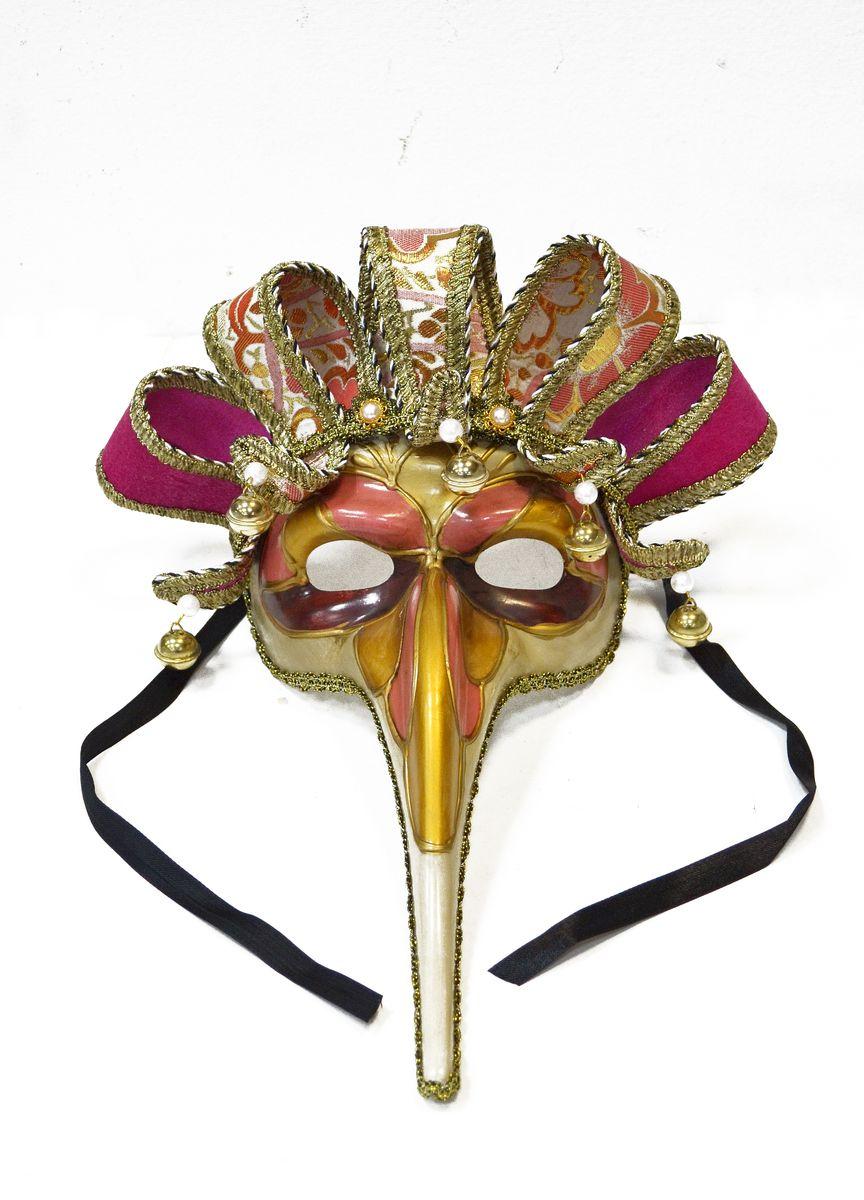 Маска венецианская  Лекарь , цвет: золотой - Карнавальные костюмы и аксессуары