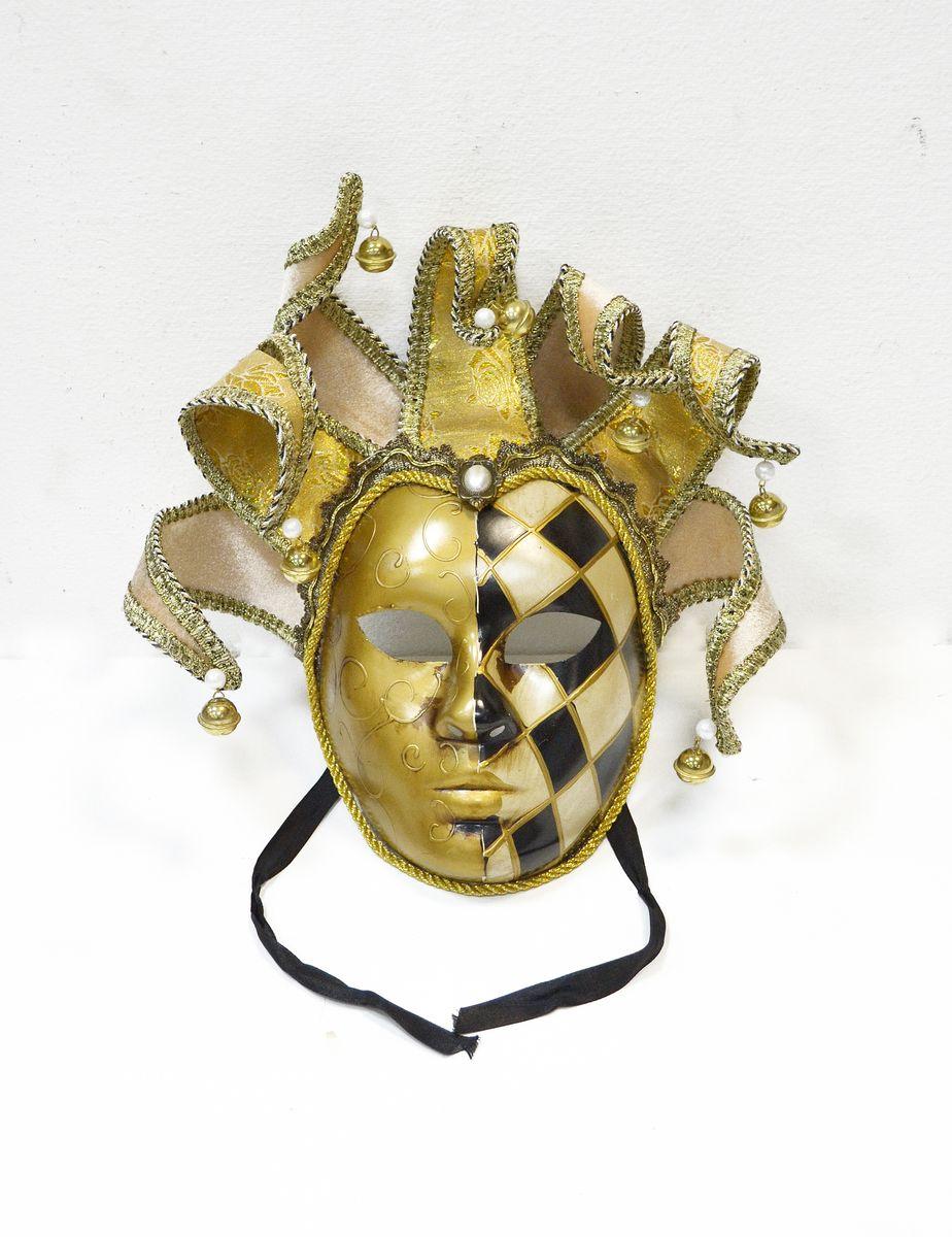 Маска венецианская Коломбина, цвет: золотой набор д творчества tinta viva hobby маска венецианская коломбина 6 71 00 06