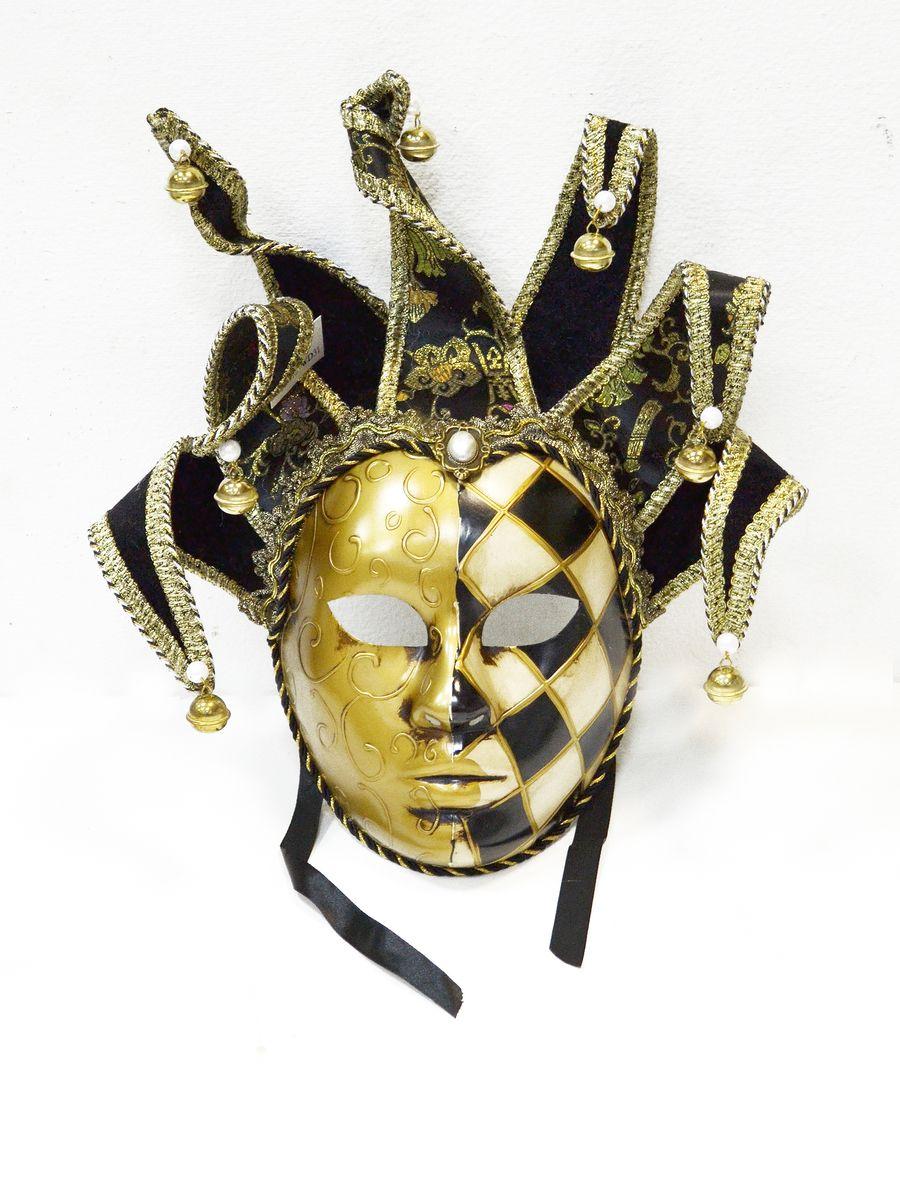 Маска венецианская Коломбина, цвет: черный набор д творчества tinta viva hobby маска венецианская коломбина 6 71 00 06