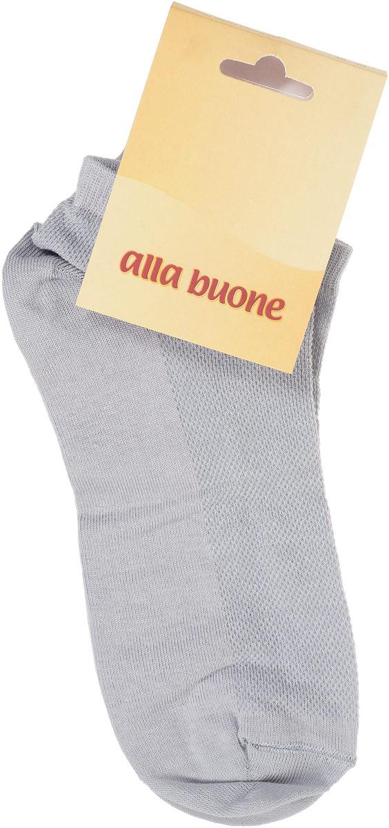 Носки женские Alla Buone, цвет: серый. CD004. Размер 25 (38-40)CD004Удобные носки Alla Buone, изготовленные из хлопка с добавлением полиамида, очень мягкие и приятные на ощупь, позволяют коже дышать. Облегченные носки с сетчатым узором на верхней части изделия. Эластичная резинка плотно облегает ногу, не сдавливая ее, обеспечивая комфорт и удобство. Модель с укороченным паголенком. Практичные и комфортные носки великолепно подойдут к любой вашей обуви.
