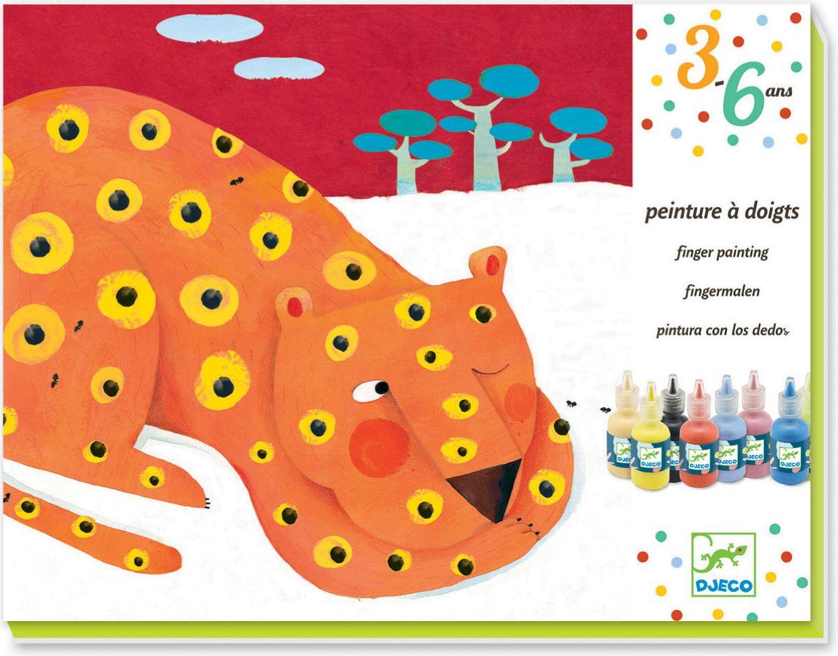 Djeco Краски пальчиковые Композиция08901Маленькие художники будут в восторге от пальчиковых красок. И мама не будетругаться, что малыш испачкался в краске. Пальчиковые краски абсолютнобезопасны для детей, способствуют развитию мелкой моторики малышей. В наборвходят краски и картинки, с помощью которых ребенок может создать своипервые художественные шедевры.