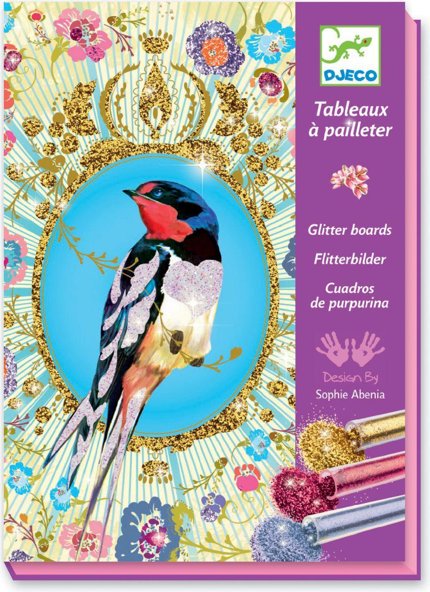 Djeco Раскраска Блестящие птицы