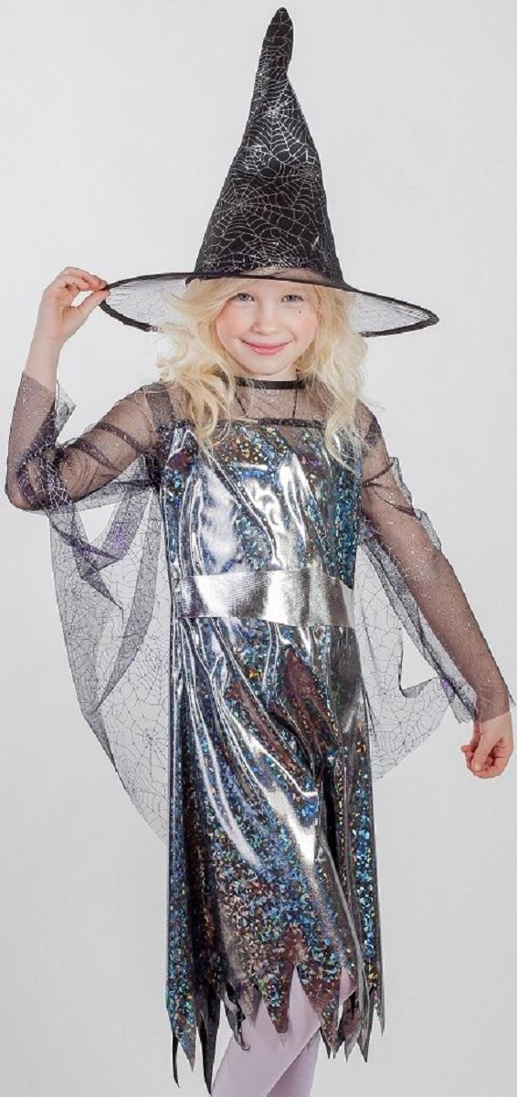 Карнавалия Карнавальный костюм для девочки Ведьма размер 28 костюм пожарника детский 28 30