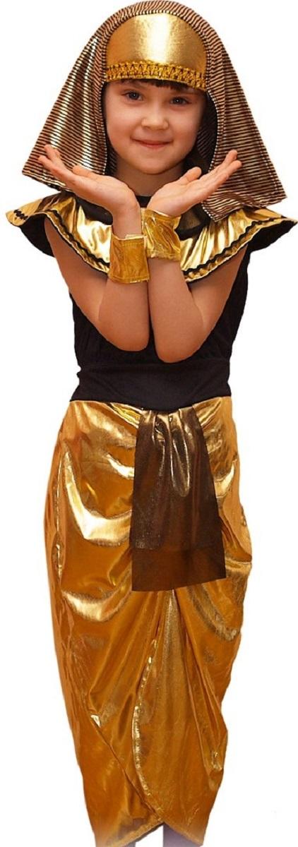 Карнавалия Карнавальный костюм для девочки Клеопатра размер 32 костюм страшного клоуна детский 30 32
