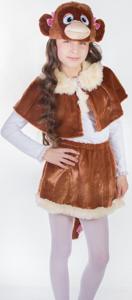 Карнавалия Карнавальный костюм для девочки Обезьянка размер 32 88038 костюм озорного клоуна детский 32 34
