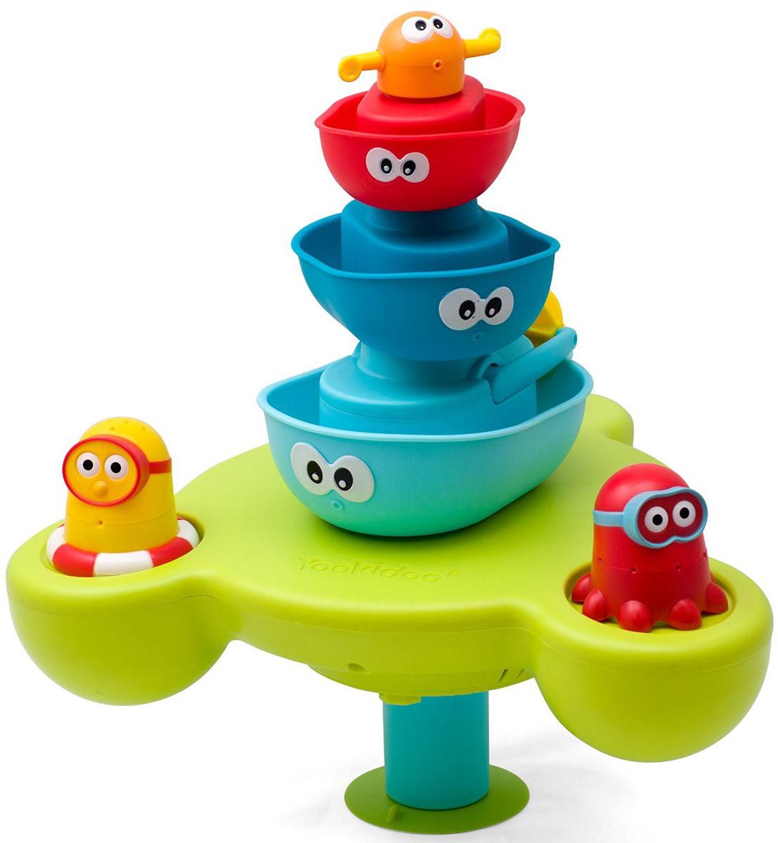 Yookidoo Игрушка для ванной Пирамидка Веселый фонтан цена 2017