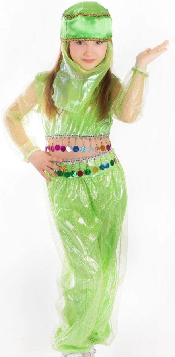 Карнавалия Карнавальный костюм для девочки Шахерезада цвет салатовый размер 134 - Карнавальные костюмы и аксессуары