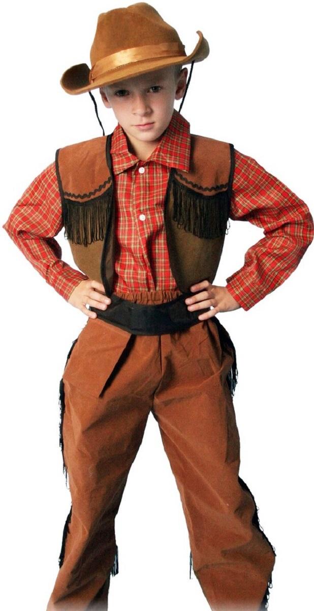 Карнавалия Карнавальный костюм для мальчика Ковбой размер 110 жилетка детская на мальчика